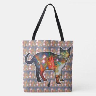 """Proxima"" Space In Cat Tote Bag"