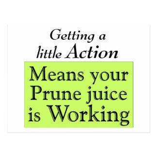 Prune juice postcard