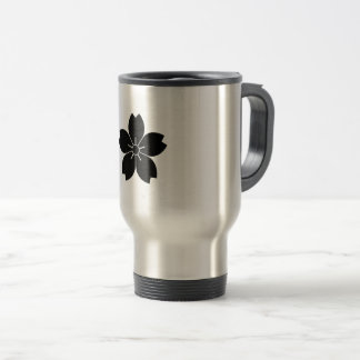 Prunus tomentosa travel mug