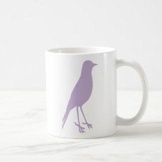 pruple bird coffee mug