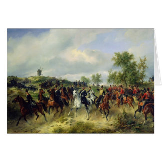 Prussian cavalry on expedition, c.19th card