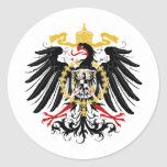 Prussian Eagle Red Black and Gold Round Sticker