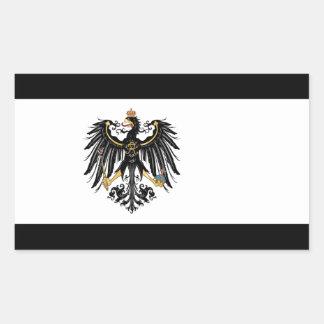 Prussian Flag Rectangular Sticker