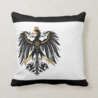 Prussian Flag Throw Pillow