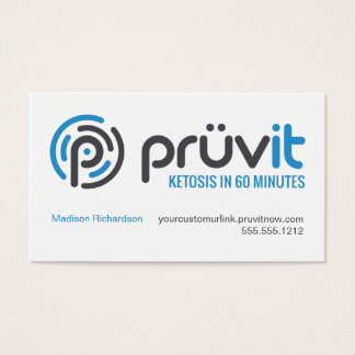 Pruvit Distributor Card