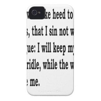 Ps. 39:1,w iPhone 4 Case-Mate case