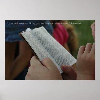 Christian Poster: Psalm 119:11