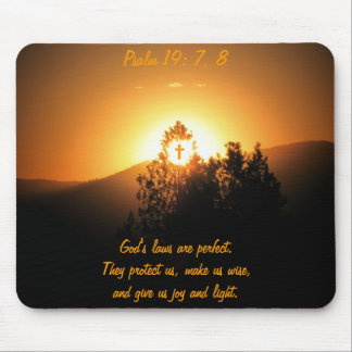 Psalm19: 7, 8 God's laws are perfect Mouse Pad