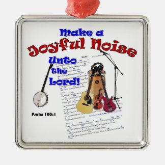 Psalm 100 Joyful Noise Ornament