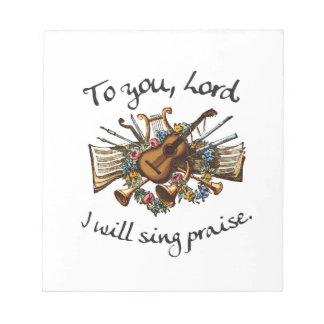 Psalm 101:1 - Vintage Musical Illustration Notepads