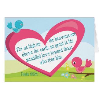 Psalm 103:11 God's Great Love Encouragement Card
