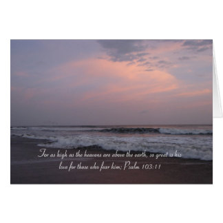 Psalm 103:11 - Sunset Card