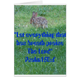 Psalm 105:6, Critters Card