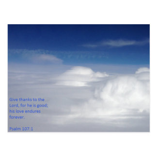 Psalm 107:1 Scripture Post Card