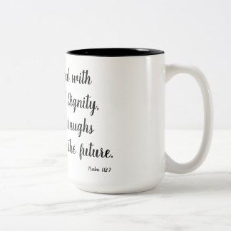 Psalm 112:7 Two-Tone coffee mug