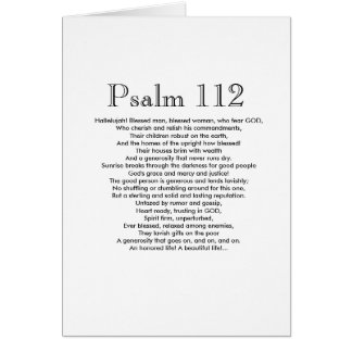 Psalm 112 Happy Birthday! Card