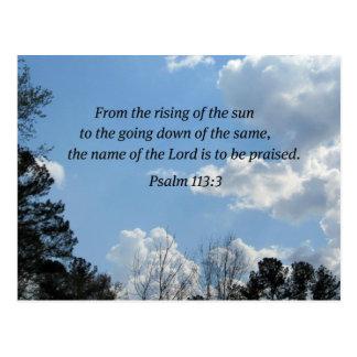 Psalm 113:3 postcard