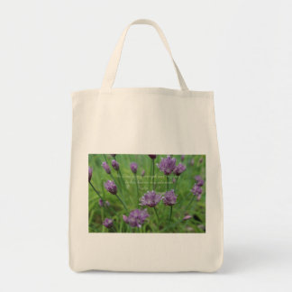 Psalm 118:14 Purple Chives Tote Bag