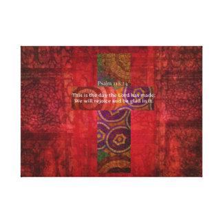 Psalm 118:24 Inspirational Bible Verse Christian Canvas Print