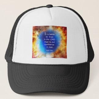Psalm 118:8 trucker hat
