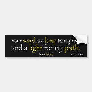 Psalm 119:105 bumper sticker