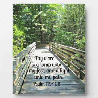 Psalm 119:105 Thy word is a lamp... Display Plaque