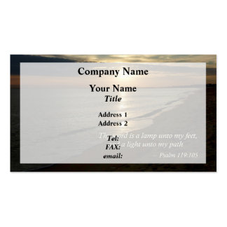 Psalm 119:105 Thy word is a lamp Pack Of Standard Business Cards