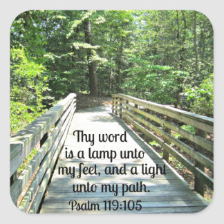 Psalm 119:105 Thy word is a lamp... Square Sticker
