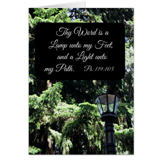 Psalm 119:105 Thy word is a lamp unto... Card