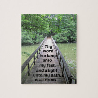 Psalm 119:105 Thy word is a lamp unto my feet and Jigsaw Puzzle