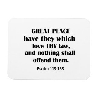 Psalm 119:165 Great peace have they which love thy Rectangular Photo Magnet