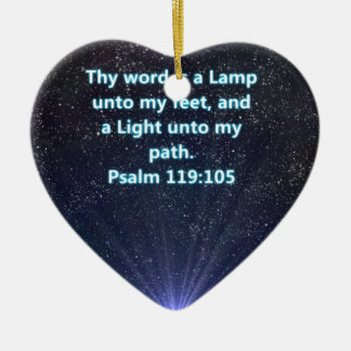 Psalm 119 bible verse ceramic heart decoration