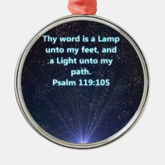 Psalm 119 bible verse Silver-Colored round decoration