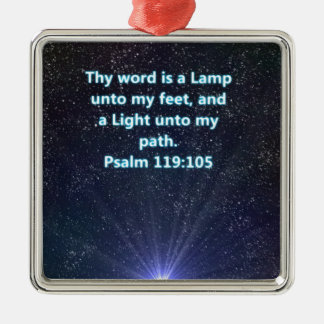 Psalm 119 bible verse Silver-Colored square decoration