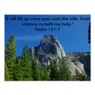 Psalm 121:1 poster