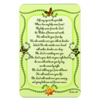 Psalm 121 rectangular photo magnet