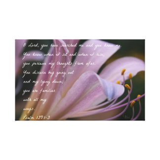 Psalm 139:1-3 Lilac Lily Canvas Print