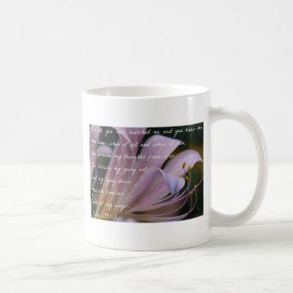 Psalm 139:1-3 Lilac Lily Coffee Mug