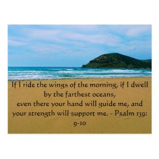 Psalm 139: 9-10 BEAUTIFUL BIBLICAL QUOTATION Postcard