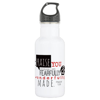 Psalm 139 - I Praise You 532 Ml Water Bottle