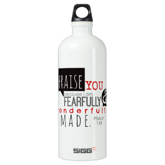 Psalm 139 - I Praise You Water Bottle