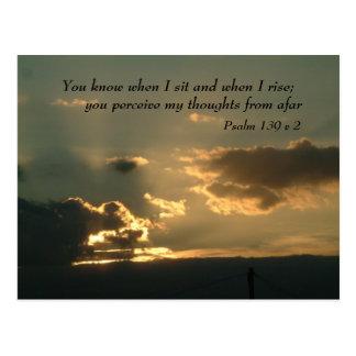 Psalm 139 v 2 | Inspirational Words Postcard