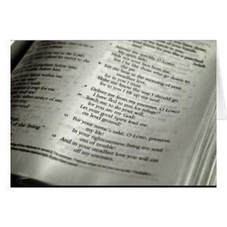 Psalm 143 [Greeting Card] Card