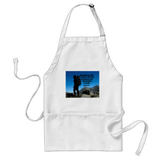 Psalm 144:1 Blessed be the Lord my rock who Standard Apron