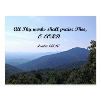 Psalm 145:10 All Thy works shall praise Thee Postcard