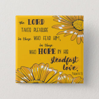 Psalm 147:11 The Lord takes pleasure . . . 15 Cm Square Badge