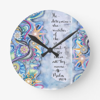 Psalm 147:4 He Calls The Stars by Name Round Clock