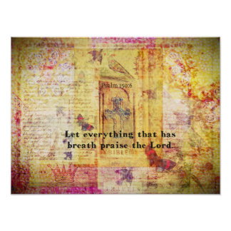 Psalm 150:6 Bible verse Contemporary Christian Poster
