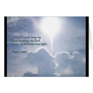 Psalm 18:28 Shining Clouds Greeting Card