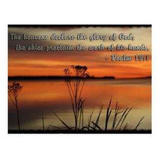 PSALM 19:1 BIBLE SCRIPTURE HEAVENS DECLARE GLORY POSTCARD